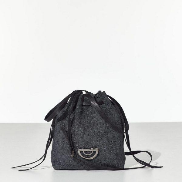 Grey Bucket Bag Τσάντα ώμου - πουγκί