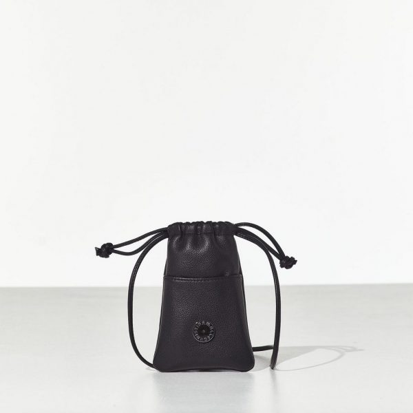Young Black Pouch γυναικείο μικρό τσαντάκι πουγκί/θήκη κινητού