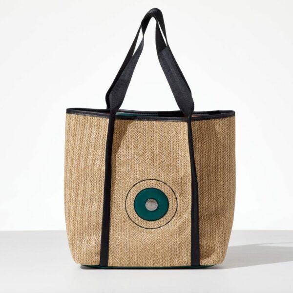 Lady Straw tote bag