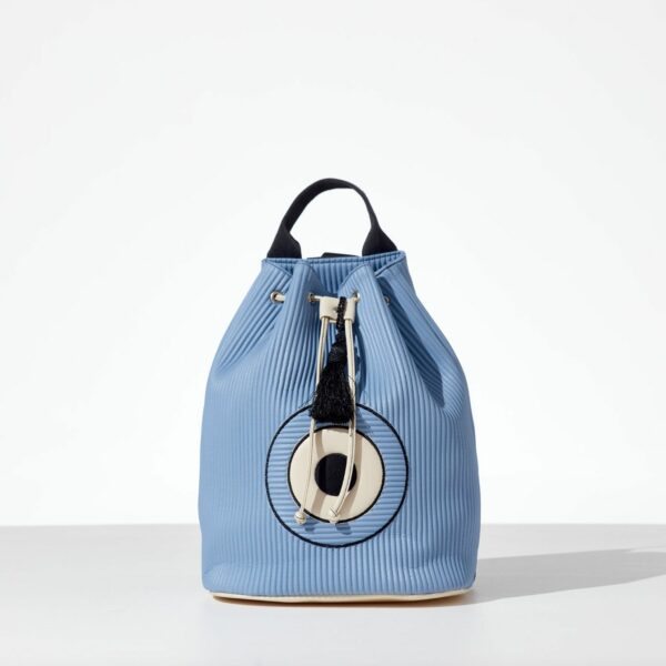 Ciel Back Back pack από κοτλέ δερματίνη σε γαλάζιο χρώμα & σχέδιο μάτι