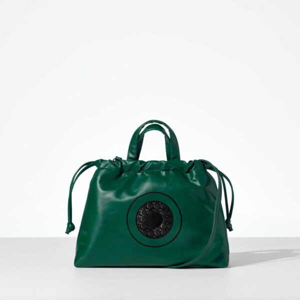 Green Cloud Bag γυναικεία τσάντα χειρός από δερματίνη πράσινο χρώμα