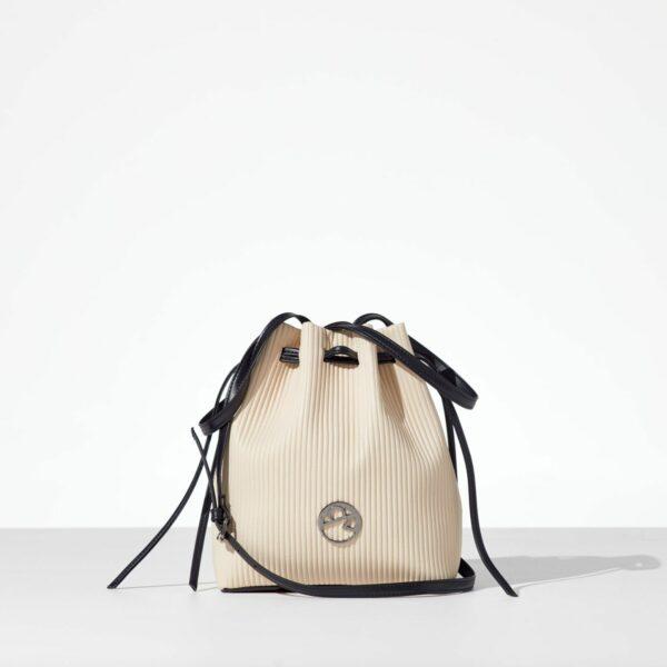 Ecru Bucket Bag γυναικεία τσάντα ώμου - πουγκί από κοτλέ δερματίνη