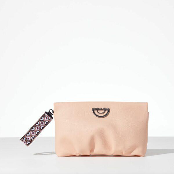 Peach Fluffy γυναικεία τσάντα φάκελος από δερματίνη