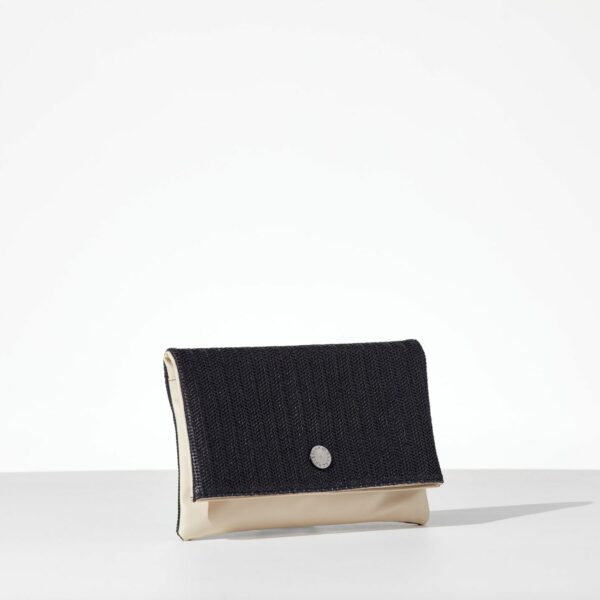 Madam Straw γυναικεία τσάντα φάκελος με καπάκι