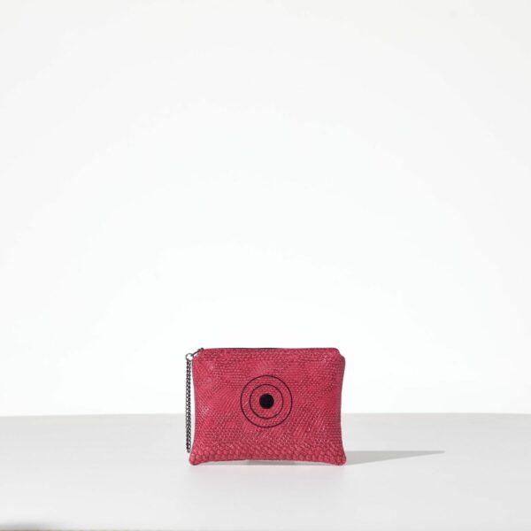 Miss Pink Mini Clutch από δερματίνη