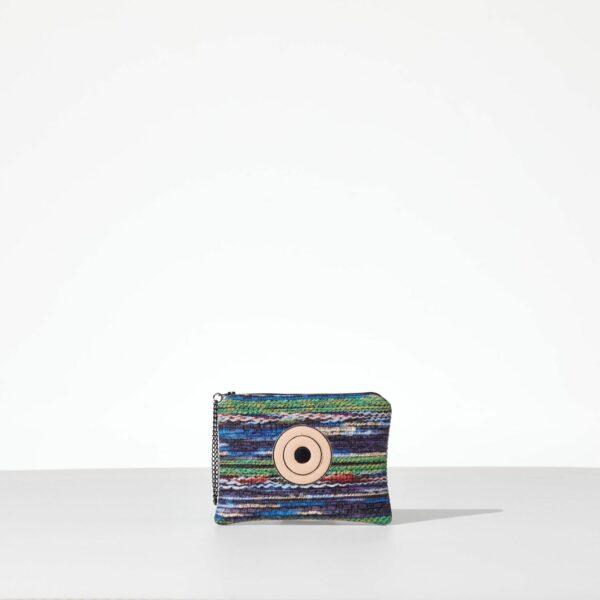 Miss Rainbow Mini Clutch από δερματίνη